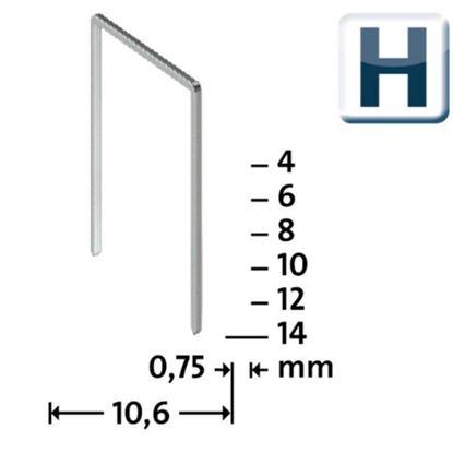 Obrázok pre výrobcu NOVUS Sponky H 37/6 supertvrdé / 2000 ks, 042-0369