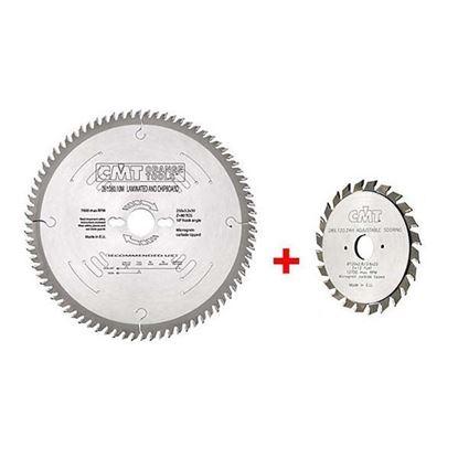 Obrázok pre výrobcu CMT Pílový kotúč na lamino a DTD 300 mm 96z 28109612M + Predrezový pílový kotúč 28912024H