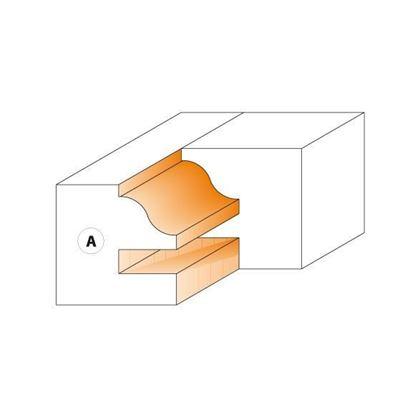 Obrázok pre výrobcu CMT Nôž pre Profil-kontra frézu C694014 - pár žiletiek 40x24,5x2mm