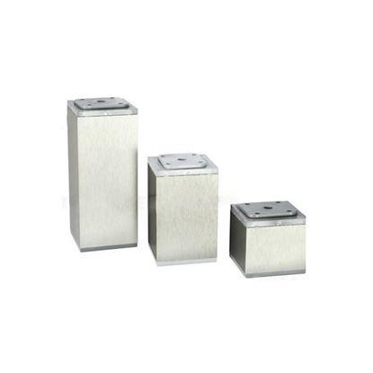 Obrázok pre výrobcu Nábytková noha štvorcová PVC/NEREZ 60 x 60 mm