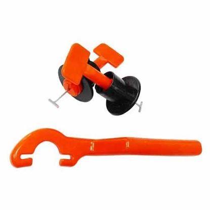 Obrázok pre výrobcu Set pre pokladanie dlaždíc 50x úchyt + 1 plastový kľúč 080150