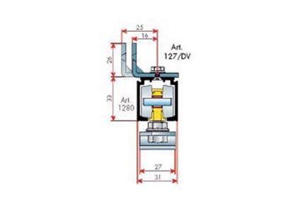 Obrázok pre výrobcu TERNO horné vedenie 1280/A -elox 2m DT303