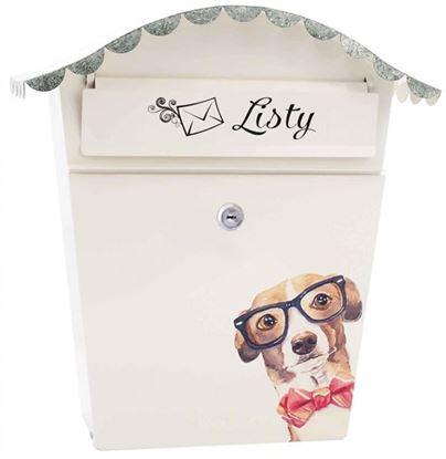 Obrázok pre výrobcu XL-TOOLS Poštová schránka s vlnitou strieškou, motív psík s okuliarmi, 2.SKM3