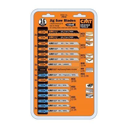 Obrázok pre výrobcu CMT Sada pílových listov do priamočiarych píl, 16 ks C-JT016