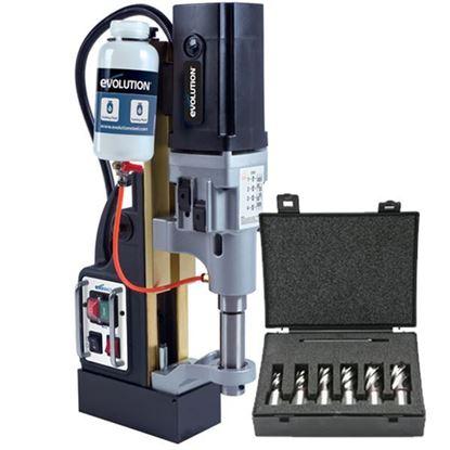 Obrázok pre výrobcu Evolution vŕtačka magnetická ME7500/4 + sada vrtákov 6ks EV007500.A