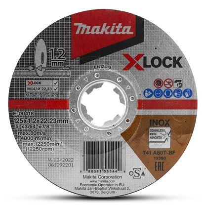 Obrázok pre výrobcu MAKITA E-00418 kotúč rezný 125 x 1,2 mm na oceľ a nerez X-LOCK