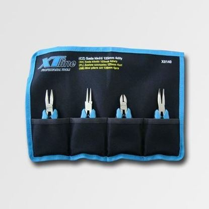 Obrázok pre výrobcu XT-line sada malých klieští 4 ks, 125 mm X0140