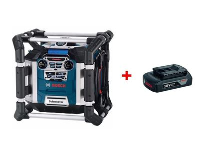 Obrázok pre výrobcu Rádio Bosch GML 50 Professional 0601429600 + 1x akumulátor GBA18V 1,5 Ah 1600Z00035