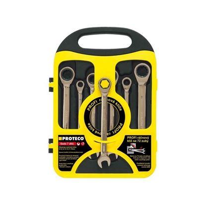 Obrázok pre výrobcu PROTECO sada račnových kľúčov 7dl. 8-19 mm 42.18-344-772