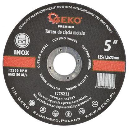 Obrázok pre výrobcu GEKO Rezný kotúč na kov a nerez 115 x 1,6 x 22,2 mm G78203
