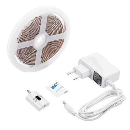 Obrázok pre výrobcu Stmievateľný LED pás 3m 12V + bezdotykový spínač WM505 neutrál farba