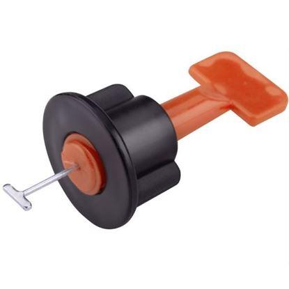 Obrázok pre výrobcu EXTOL set pre obkladačov / dištančné klipy 50ks + 1ks kľúč  8845010