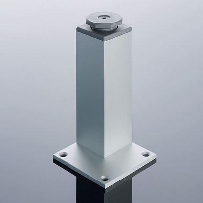 Obrázok pre výrobcu Nábytková noha hliníková 45x45x100mm s reguláciou H100R