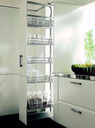 Obrázok pre výrobcu KESSEBÖHMER potravinová skriňa Dispensa, kôš drôtený, strieborný RAL 9006