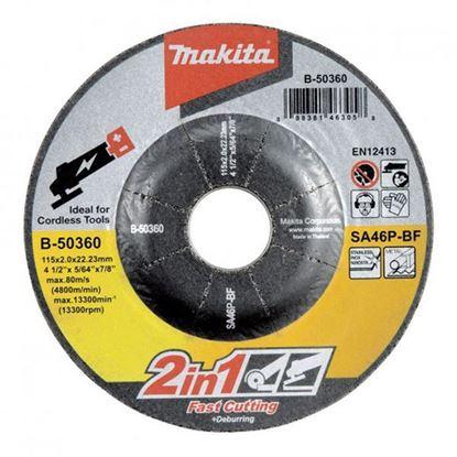 Obrázok pre výrobcu Makita B-50360 Kotúč rezný/brúsny na kov 115x2x22,23mm