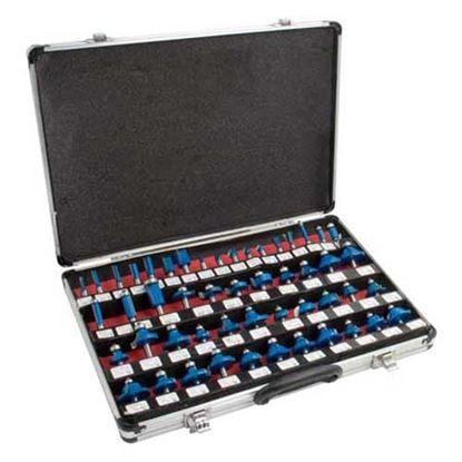 Obrázok pre výrobcu Sada HM fréz stopka 8mm - 50 dielov v AL kufri HM850