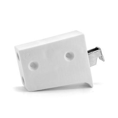Obrázok pre výrobcu Rektifikačné kovanie 3D univ. biele krátky hák /ZAW.UNI.BI.KR/
