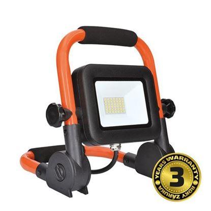Obrázok pre výrobcu Solight LED reflektor PRO so sklopným stojanom, 30W, 2550lm, 5000K, kábel so zástrčkou, IP65 WM30WFEL