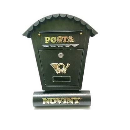 Obrázok pre výrobcu Poštová schránka SO2T 465x345x105 PS sivý antik