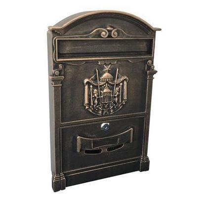Obrázok pre výrobcu Schránka poštová ALU, hliníková, antique bronze, 410x255x90 mm 252261