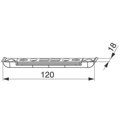 Obrázok pre výrobcu MACO protiplech zástrče, 2 otvory, 50576