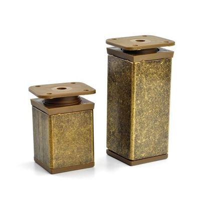 Obrázok pre výrobcu Nastaviteľná noha PVC, patina - bronz 40x40mm