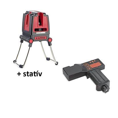 Obrázok pre výrobcu KAPRO SET 873S Laser RedBeam, so statívom 3,2 m 213846 + diaľkový príjimač 894-04 RED 213498