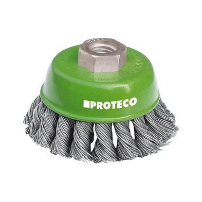 Obrázok pre výrobcu PROTECO misková kefa 65mm x M14, NEREZ 0.5 mm / 10.233-065-NER