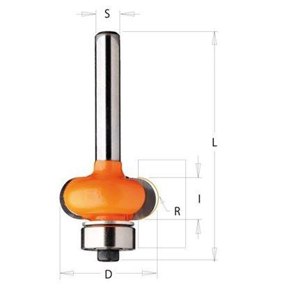 Obrázok pre výrobcu CMT C762 Fréza polkruhová zaoblovacia vypuklá