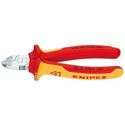 Obrázok pre výrobcu KNIPEX kliešte štipacie bočné odizolovacie VDE 160mm 1426160