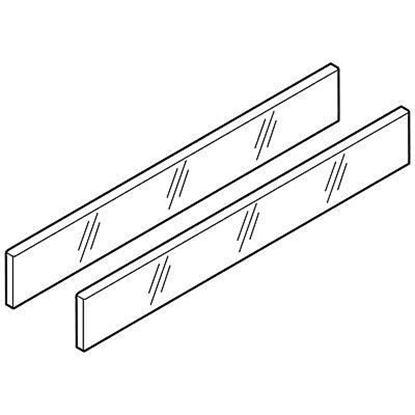 """Obrázok pre výrobcu BLUM Z37R467D Zasúvací prvok zo skla """"D"""" ANTARO satina 50cm 2ks"""