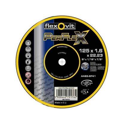 Obrázok pre výrobcu FLEXOVIT kotúč rezný 125x1,6x22,2mm na kov/nerez 66252844303