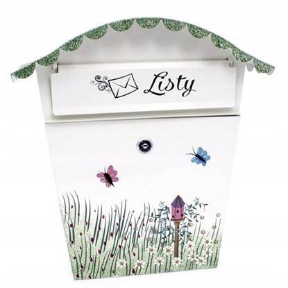 Obrázok pre výrobcu XL-TOOLS Poštová schránka s polkruhovou strieškou, motív lúka s kvetmi 2.SKM1