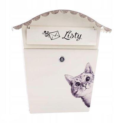 Obrázok pre výrobcu XL-TOOLS Poštová schránka s vlnitou strieškou, motív mačka, 2.SKM11