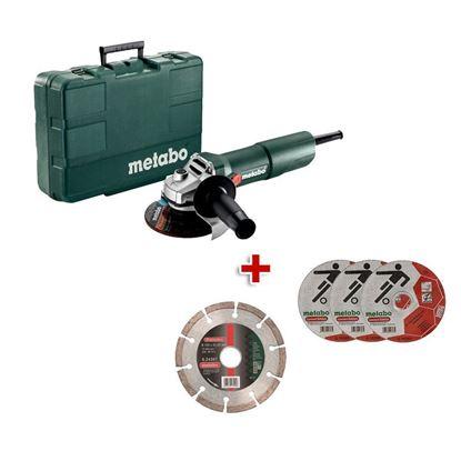 Obrázok pre výrobcu METABO W750-125 uhl. brúska 603605500 + 1x diamantový kotúč + 3x rezný kotúč