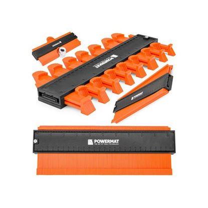 Obrázok pre výrobcu POWERMAT Šablóna na kopírovanie kriviek, 275x105x21 mm PM0958
