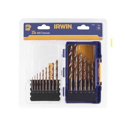 Obrázok pre výrobcu IRWIN Titánové vrtáky, 15-dielna sada 3038501