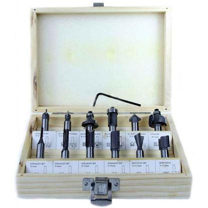 Obrázok pre výrobcu MAR-POL Sada stopkových fréz do dreva 12-dielna, stopka 8 mm M22549