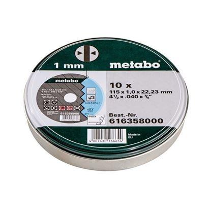 Obrázok pre výrobcu Sada rezných kotúčov Metabo 10 kusov