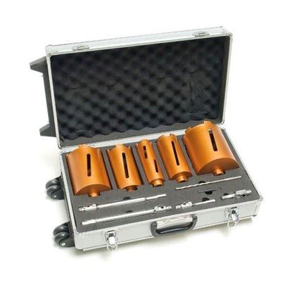 Obrázok pre výrobcu DEMA HM vŕtacie korunky v hliníkovom pojazdnom kufríku, 11-dielna sada 18700D
