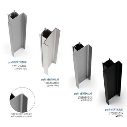 Obrázok pre výrobcu SALU GOLA profil vertikálny k C a J 3m