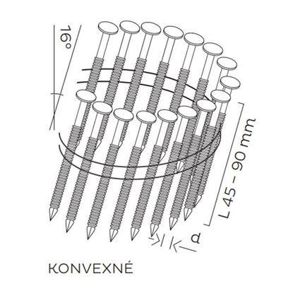 Obrázok pre výrobcu Klince BEA BDC BK konvexné