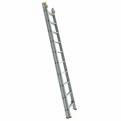 Obrázok pre výrobcu Rebrík FORTE výsuvný dvojdielny 150 kg (2,41 - 10,62 m)