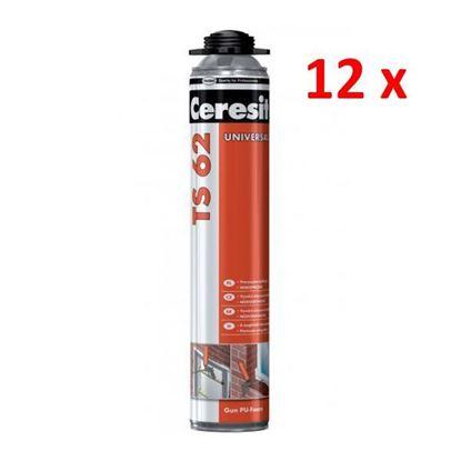 Obrázok pre výrobcu 12 ks CERESIT TS 62 Jednozložková pištoľová polyuretanová pena 750ml