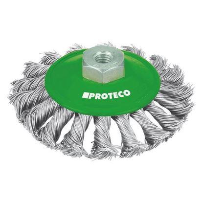 Obrázok pre výrobcu PROTECO kefa misková vrkočová 100mm M14 0,35mm NEREZ 10.234-100-NER