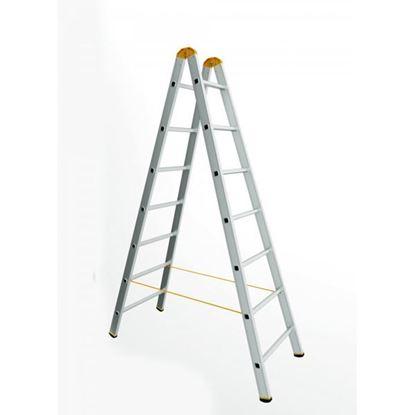 Obrázok pre výrobcu Rebrík dvojdielny FORTE - Štafle (2x3 až 2x14 priečok) 150kg