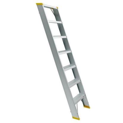Obrázok pre výrobcu Jednodielny stupnicový rebrík FORTE - ( 6 až 12 priečok ) 150kg