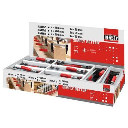 Obrázok pre výrobcu BESSEY sada zvierok LM-BOX 24x LM15-5, 24x LM20/5, 16x LM25/5