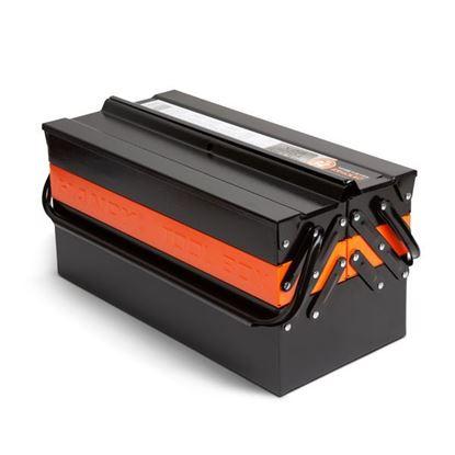 Obrázok pre výrobcu HANDY Kufrík na náradie, kovový - harmonika - 430 x 210 x 200 mm 10948