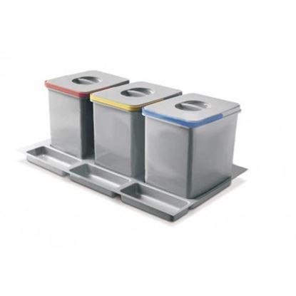 Obrázok pre výrobcu Odpadkový kôš MULTINO 800 3*15L 5570-2